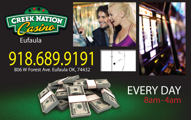 Creek nation casino eufala casino deposit first online promotion